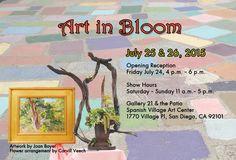 Art in Bloom at Gallery 21 & the Patio, Spanish Village Art Center, 1770 Village Pl., San Diego, Ca. 7/24/15 - 7/26/15.  #SeeJaneExplore #SJE #SeeJaneExploretheSizzlingSummer #SizzlingSummer #ExploreSanDiegoCounty #artinbloom #art #flowers