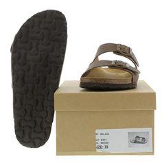 Sweet Mens Malaga Sandals - Brown Waxy