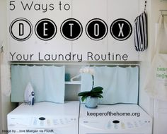 It wasn't long after I started my natural living journey that I realized that I needed to detox my laundry routine. Most conventional laundering supplies contain dyes, perfumes and many other toxins. Natural Cleaning Recipes, Homemade Cleaning Products, Natural Cleaning Products, Diy Cleaners, Cleaners Homemade, Cleaning Solutions, Cleaning Hacks, Natural Stain Remover, Christian Homemaking
