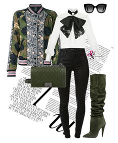 """""""Better Werk it!"""" by self-xpression on Polyvore featuring Whiteley, Coach, Elisabetta Franchi, Yves Saint Laurent, J Brand, Chanel, Gucci, shop and SXnaughtyornice"""