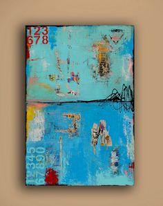 GIANT 60x60 Painting Ready to hang por erinashleyart en Etsy