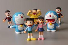 7PCS Doraemon Stand By Me Nobita Gian Suneo Shizuka Japan Figures Toy Doll Set