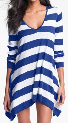 I love this striped lightweight sweater for over swimwear as a perfect choice for cooler days or nights. This sweater is also a great add to any summer pant, capri, short or your favorite black leggings.