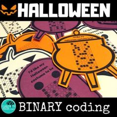 Halloween Binary Coding Unplugged What is April exactly why is it a joke, Teaching Activities, Fun Learning, Teaching Kids, Technology Lessons, Science Lessons, Coding For Kids, Math For Kids, Halloween Jokes, Engineering Design Process