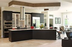 Novum Custom Homes designed this kitchen with clean and modern lines.