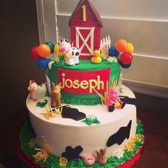 Barn Yard themed Happy Birthday Cake
