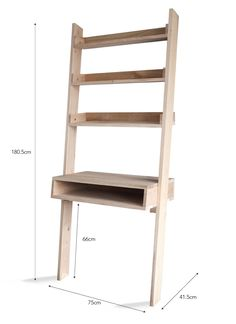 The Hambledon Desk Ladder offers ideal storage and a much needed work station