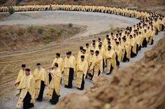 Orthodox procession of Priests.