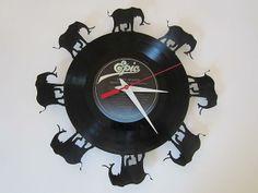 elephant vinyl wall clock