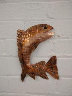 Metal Sculpture Artists, Metal Sculptures, Lion Sculpture, Copper Wall Art, Copper Gifts, Fish Wall Art, Home And Garden, Statue, Beautiful