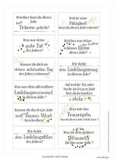 silvester-party game-printable jahresrueckblick Source by Party Silvester, Diy Silvester, Christmas And New Year, Christmas Fun, New Year's Eve Cocktails, New Years Eve Weddings, New Years Eve Outfits, New Years Decorations, Nouvel An
