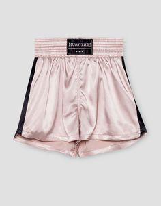 Satin Boxing Short Pull & Bear : Zero Gravity AW16 Gymwear Collection Fashion + Sportswear