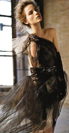 Vera Wang Fall 2010 Ad Campaign: Anna de Rijk by Carter Smith Carter Smith, Black Wedding Gowns, Wedding Dresses, Formal Dresses, Bridesmaid Dresses, Vera Wang Dress, Glamour, Inspiration Mode, Fashion Inspiration
