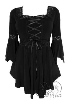 Renaissance corset top in Classic Black. Our all-time best-selling top harkens back to times of yore, when chivalry, mysticism, and magical beings ruled the land. But you don't have to cast any spells or slay any dragons to be the fairest maiden of them all in our Renaissance top. Your best look will be conjured, potion-free, because this top is designed to draw attention to all the best features of your figure.