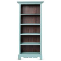 Check out this item at One Kings Lane! Beach House Bookcase, Turquoise/Mahogany
