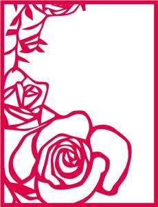 Силуэт Интернет-магазин: роза декора прямоугольную рамку