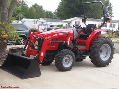 Massey Ferguson 1742 with DK120 front-end loader.