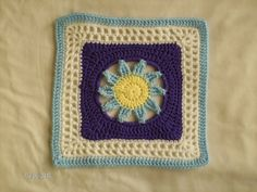 "Blooming Lace - 12"" Square pattern by Melinda Miller ~ free pattern"