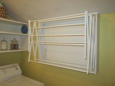 Make Your Own Laundry Room Drying Rack–Easy DIY Project – Home Staging In Bloomington Illinois Diy House Projects, Room Doors, Diy Door, Laundry Room Makeover, Laundry Room Drying Rack, Rack Design, Rack, Laundry Room Doors, Cheap Interior Design