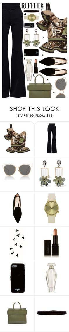 """""""~Add some flair: Ruffle Tops~"""" by amethyst0818 ❤ liked on Polyvore featuring Johanna Ortiz, Alexander McQueen, Christian Dior, Marni, Nicholas Kirkwood, Komono, Illamasqua, Givenchy, Victoria's Secret and le top"""