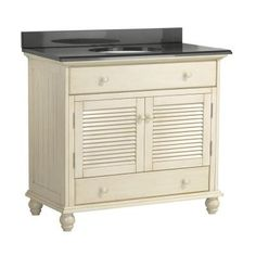 Foremost Cottage 37 in. W x 22 in. D Vanity with Colorpoint Vanity Top in Black-CTAACB3622D at The Home Depot