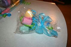 Great way to package up a travel enviro set for a gift. Teachers, showers, any event really! Flowers.