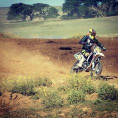 Ride on a motocross track
