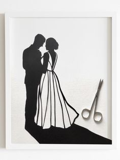 Excited to share the latest addition to my #etsy shop: Wedding Silhouette Art - First Anniversary Paper Gift - Custom Wedding papercut - Bridal Gift - Unique Gift Silhouette Family, Silhouette Painting, Wedding Silhouette, Silhouette Portrait, First Wedding Anniversary Gift, Paper Anniversary, Anniversary Gifts For Him, Anniversary Ideas, Wedding Art