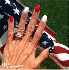 DIY Fourth of July Nail Art Design