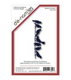 """Die-Namites Die-Birds On A Wire, 1.75""""X5.5"""""""