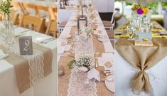 7 Awesome Wedding Table Decor Ideas That Will Make Jaws Drop Wedding Reception Table Decorations, Rustic Wedding Reception, Table Wedding, Camo Wedding, Wedding Ideas, Wedding Vintage, Rustic Table Runners, Wedding Tablecloths, Country Engagement