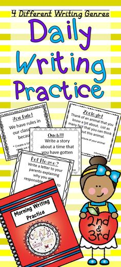Super way to get your kiddos to relax and write!  This is a fast routine that can be looked at throughout the year to show how your students have improved within their writing skills. Only $2 and 4 different writing genres!