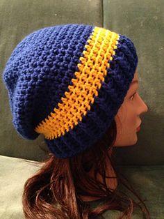 Slouchy Beanie - Free crochet pattern by West Michigan Crochet.