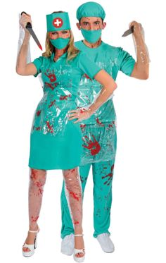 Bloody Nurse u0026 Surgeon Combination  sc 1 st  Pinterest & Surgeon and Doctor - Halloween Costume Contest at Costume-Works.com ...