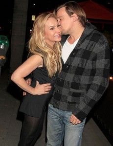 It's no longer a rumor. Adrienne Maloof and Sean Stewart, the son of Rod Stewart, are dating. They have met lately, and last weekend, they were seen coming together out of a restaurant in Beverly Hills. Adrienne is 51, and Sean is 32.
