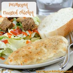 Parmesan Crusted Chicken | realmomkitchen.com