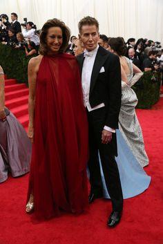 Met Ball Gala Red Carpet Arrivals - 2014 - Dress Code - White Tie & Tails . . . Donna Karan & Calvin Klein