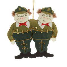 Tweedle Dum and Tweedle Dee decoration - Alice in Wonderland on British Library