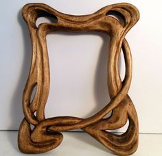 Hand Carved Wood Picture or Mirror Frame Art Deco by SuzanneJacobs, $165.00