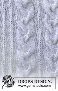 Knitted blanket with cables and false fisherman's rib variation in 2 strands. Piece is knitted in 2 strands DROPS Air. Drops Patterns, Textures Patterns, Stitch Patterns, Knitting Patterns, Drops Design, Magazine Drops, Cable Needle, Knit Pillow, Knitting Books
