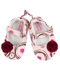 RuffleButts Pink Swirl Soft Soled Shoes