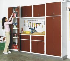 Not impressed with particleboard utility cabinets available at your local home center? Neither were we. So we designed s sturdy, east-to-build set of cabinets. Build one or more of the components to suit your clutter-control needs.Featured in WOOD Issue 162, April/May 2005
