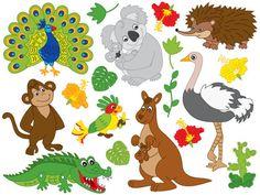 ITEM: Australian Animals Clipart - Vector Koala Clipart, Kangaroo Clipart, Emu Clipart, Echidna Clipart, Australian Animals Clip Art for Personal and Commercial Use WHAT I... #thecreativemill