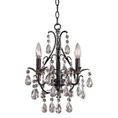 Buy the Minka Lavery Castlewood Walnut Direct. Shop for the Minka Lavery Castlewood Walnut 3 Light 1 Tier Mini Crystal Chandelier from the Mini Chandeliers Collection and save. Silver Highlights, 3 Light Chandelier, Chandelier Ideas, Crystal Chandeliers, Gothic Chandelier, Country Chandelier, Silver Chandelier, Pendant Lights, Minka