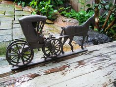 Vintage Amish Horse and Buggy