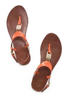 Tory Burch Padlock Flat Sandal
