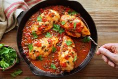 Chicken Breasts with Tomatoes and Capers from Pierre Franey