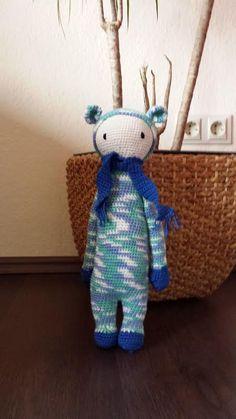 BINA the bear made by Katja J. / crochet pattern by lalylala