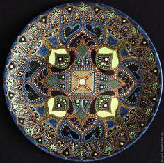 Купить Тарелка декоративная Seascape - восточный декор, Тарелка декоративная, тарелка на стену, оригинальный подарок