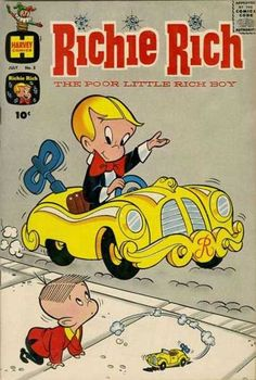 Richie Rich Comic Books - I know it's not a toon BUT I always got a new one on Saturdays when Mom and her friend Toots came back from doing the weekly grocery shopping at Darnell's in Wartburg :) Old Comic Books, Vintage Comic Books, Vintage Cartoon, Comic Book Covers, Vintage Comics, Venom T Shirt, Old School Cartoons, Old Cartoons, Classic Comics